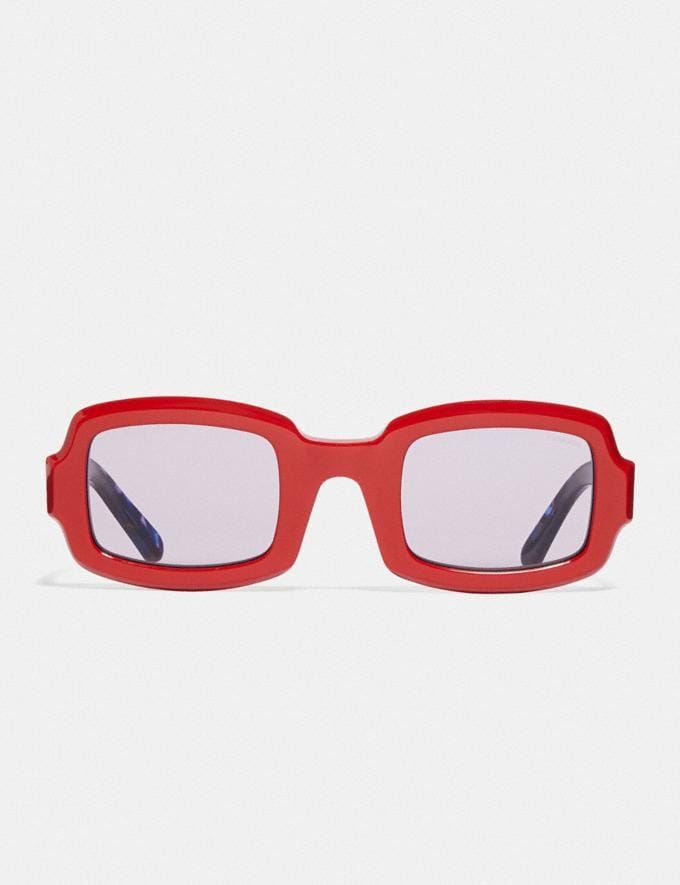 Coach Rectangle Frame Sunglasses Red. Translations 6.1-Otheroutlet Alternate View 2