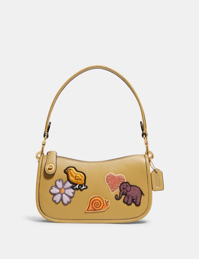 Coach Swinger 20 With Creature Patches B4/Light Tan Multi