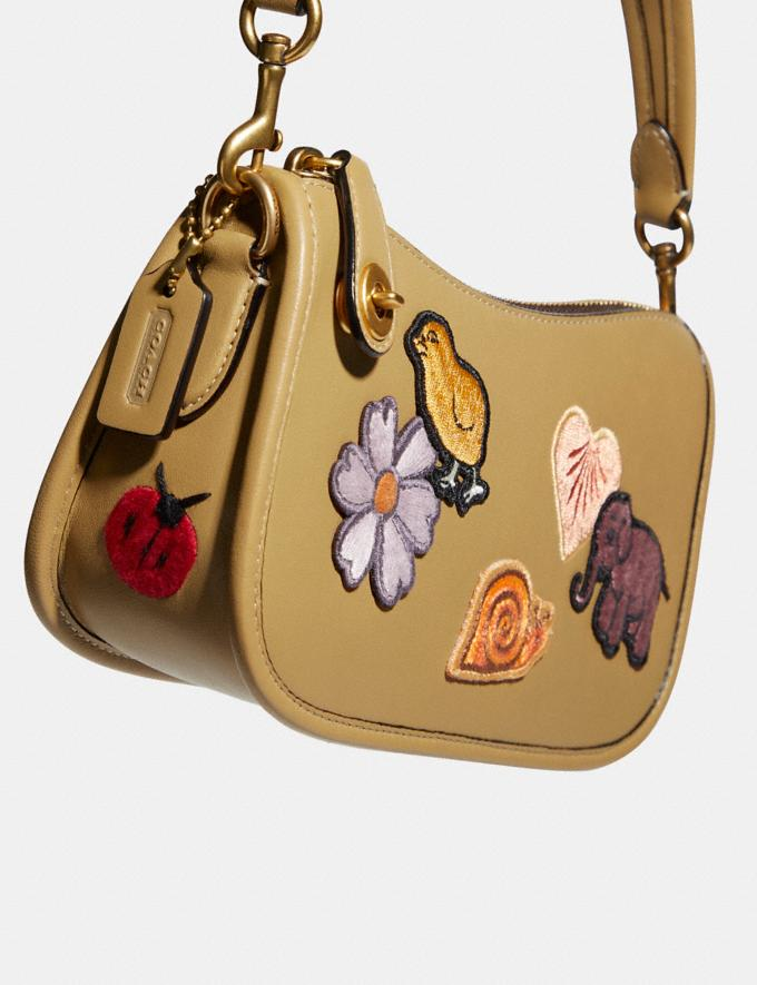 Coach Swinger 20 With Creature Patches B4/Light Tan Multi  Alternate View 4