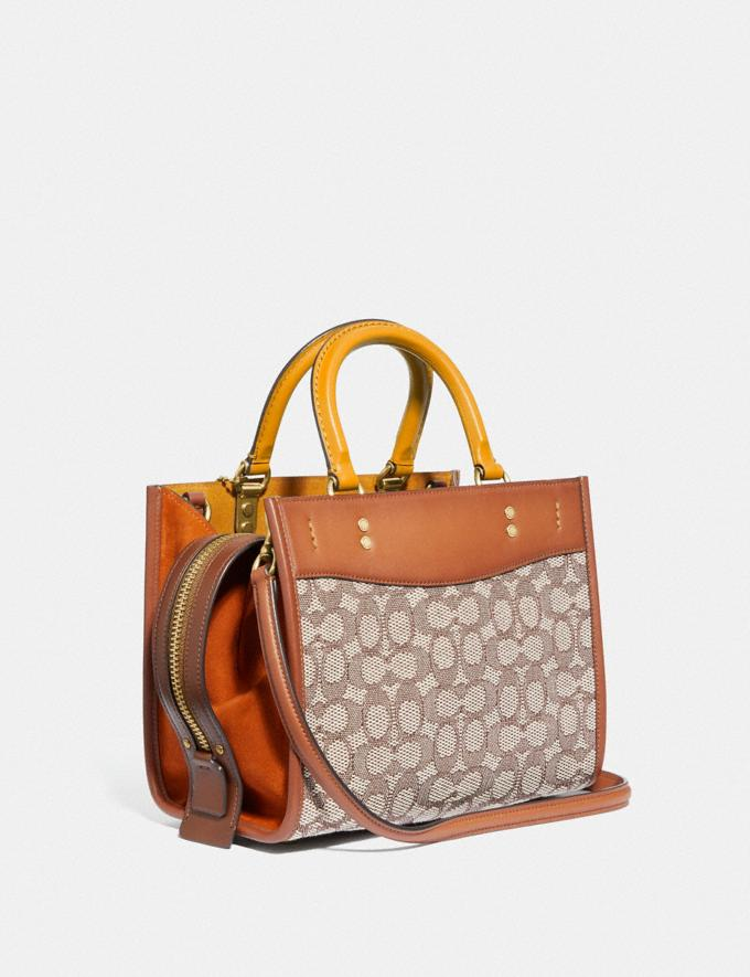 Coach Rogue 25 in Signature Textile Jacquard B4/Cocoa Burnished Amb Translations 11.1&10.1additions Outlet Alternate View 1
