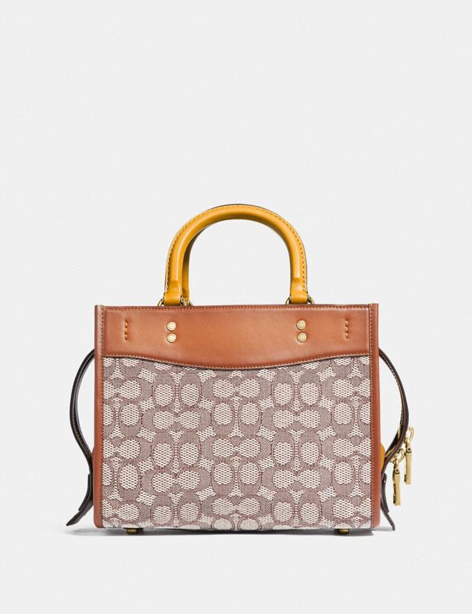 Coach Rogue 25 in Signature Textile Jacquard B4/Cocoa Burnished Amb Translations 11.1&10.1additions Outlet Alternate View 2