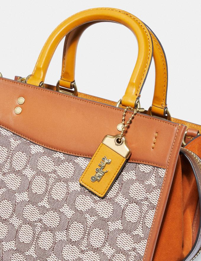Coach Rogue 25 in Signature Textile Jacquard B4/Cocoa Burnished Amb Translations 11.1&10.1additions Outlet Alternate View 6
