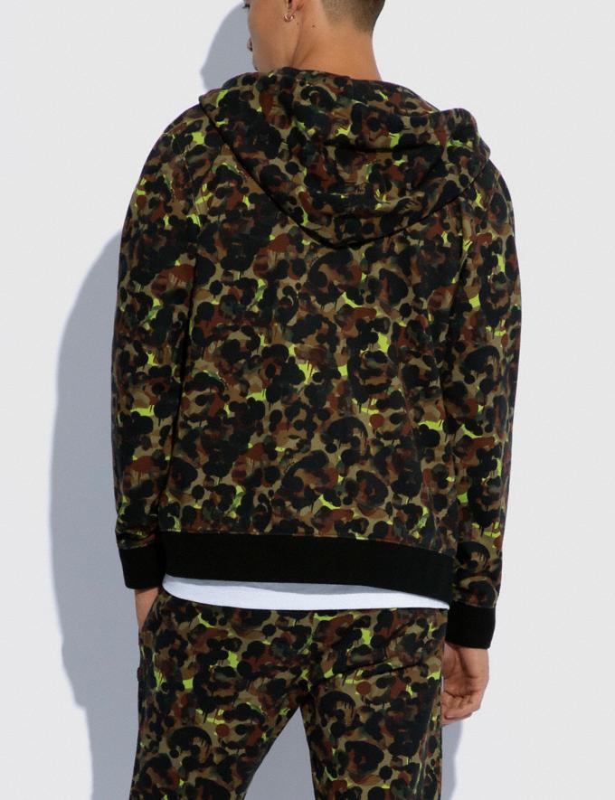 Coach Hoodie Mit Durchgehendem Reissverschluss Und Camouflage-Print Aus Biobaumwolle GrÜN Neon Gelb Multi  Alternative Ansicht 2