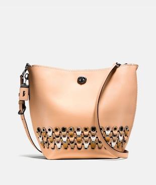 DUFFLE SHOULDER BAG WITH COACH LINK DETAIL