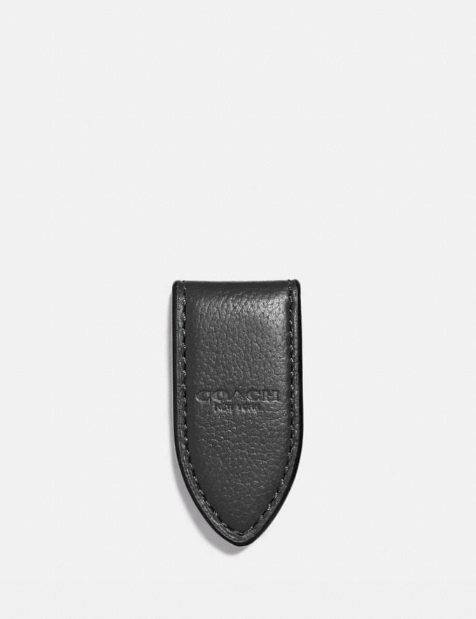 Coach Money Clip Black Men Wallets