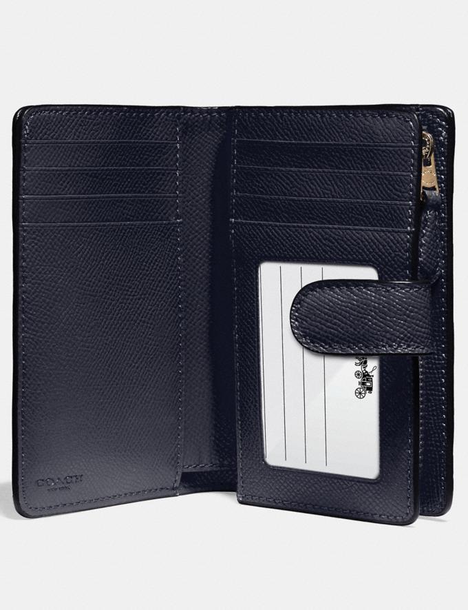 Coach Medium Corner Zip Wallet Midnight/Light Gold Explore Women Explore Women Wallets Alternate View 1