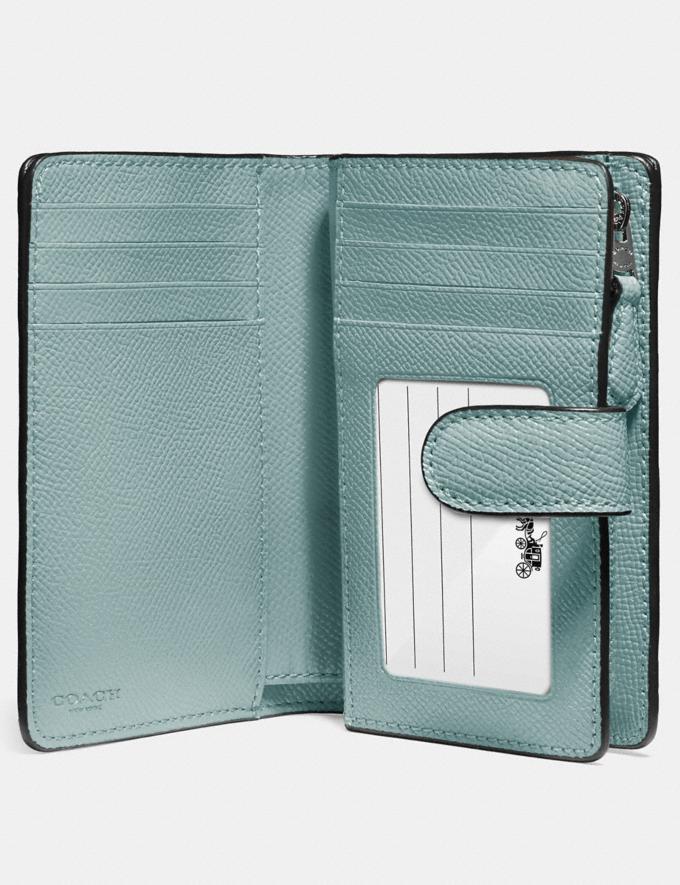 Coach Medium Corner Zip Wallet Qb/Sage Explore Women Explore Women Wallets Alternate View 1