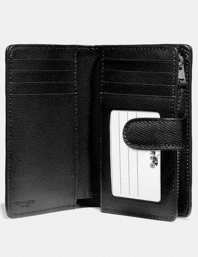 Coach Medium Corner Zip Wallet Sv/Black Explore Women Explore Women Wallets Alternate View 1