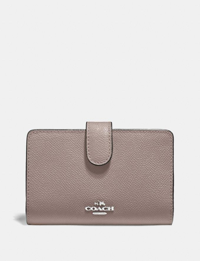 Coach Medium Corner Zip Wallet Grey Birch/Silver Explore Women Explore Women Wallets