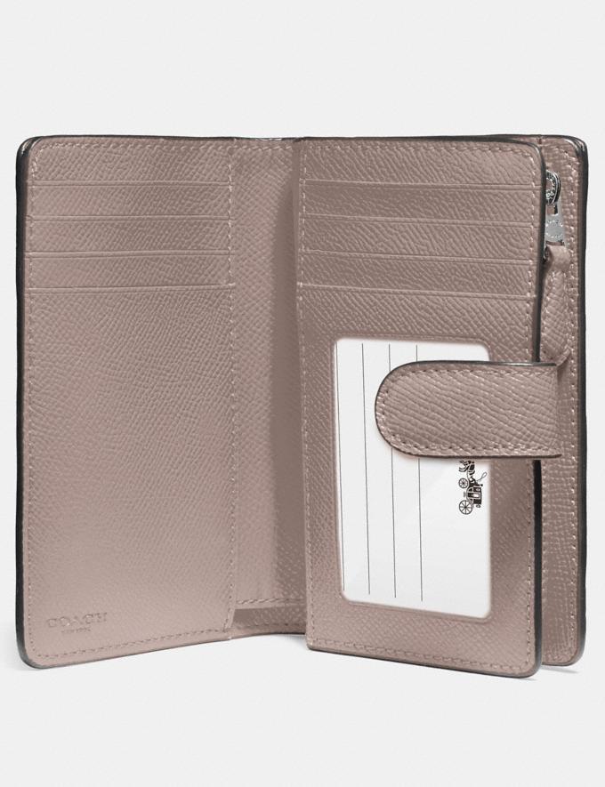 Coach Medium Corner Zip Wallet Grey Birch/Silver Explore Women Explore Women Wallets Alternate View 1