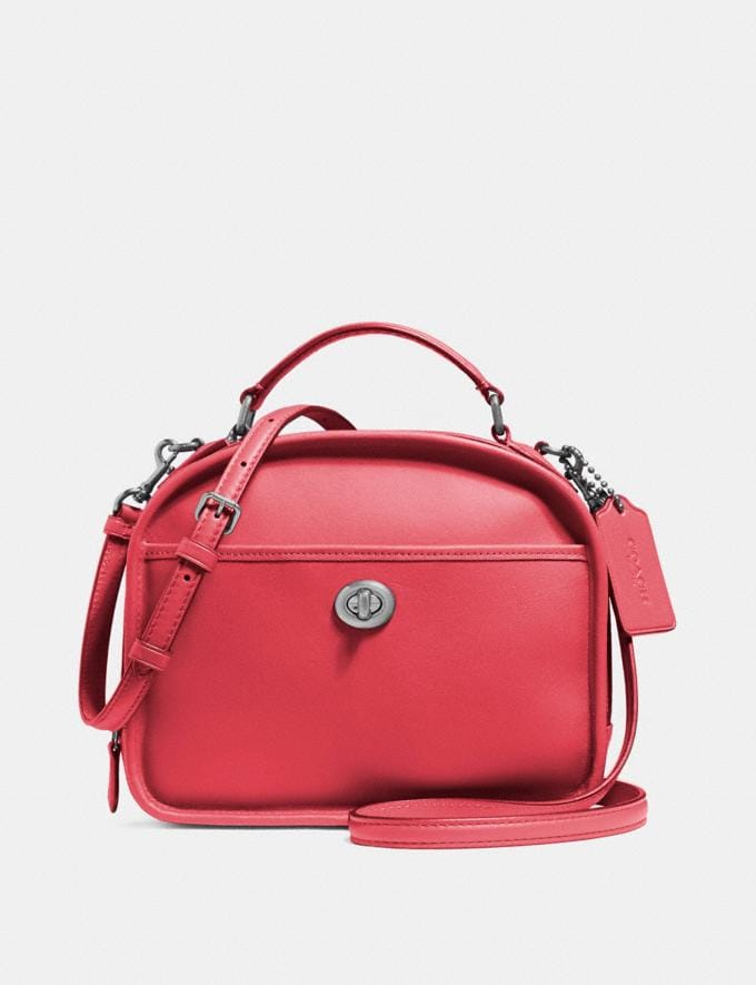 Coach Lunch Pail Sv/True Red Clearance