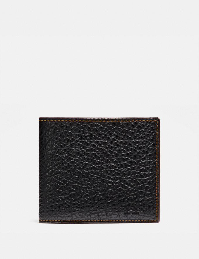 Coach Double Billfold Wallet Black Explore Men Explore Men Wallets