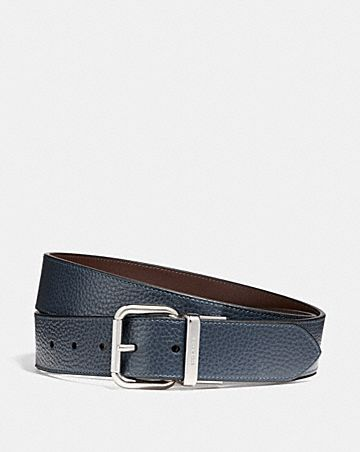 wide jeans buckle cut-to-size reversible belt