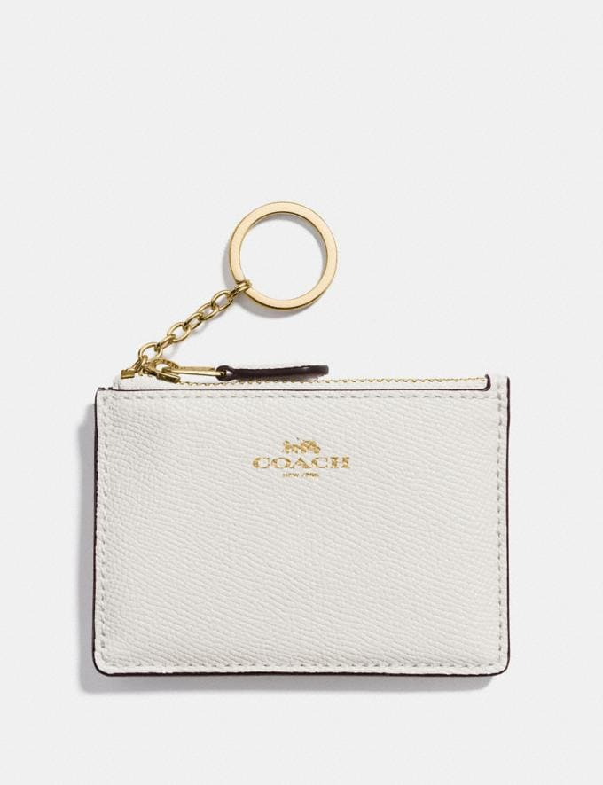 Coach Mini Skinny Id Case Chalk/Light Gold Explore Women Explore Women Bag Charms & Accessories