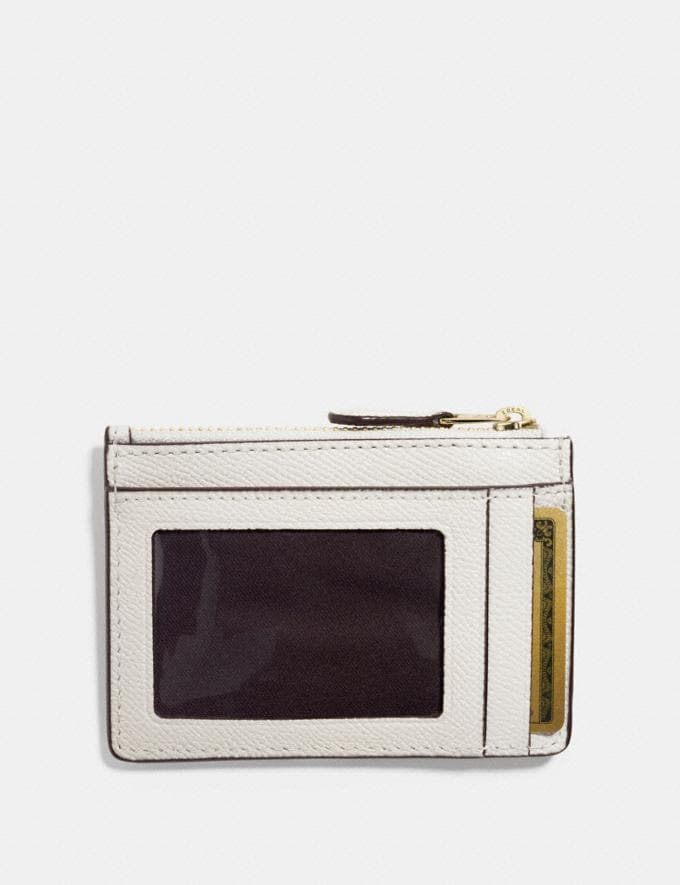 Coach Mini Skinny Id Case Chalk/Light Gold Explore Women Explore Women Bag Charms & Accessories Alternate View 1