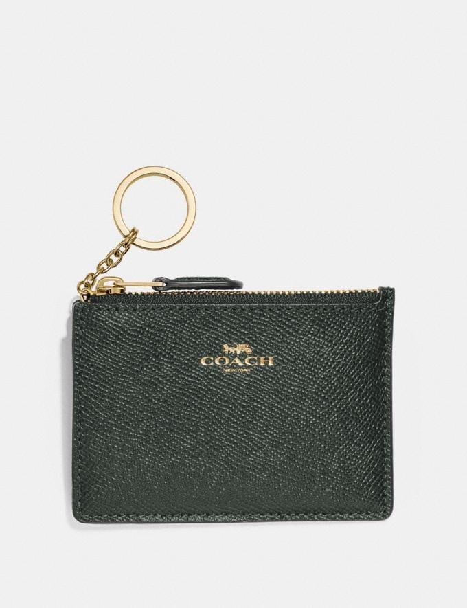Coach Mini Skinny Id Case Ivy/Imitation Gold Explore Women Explore Women Bag Charms & Accessories