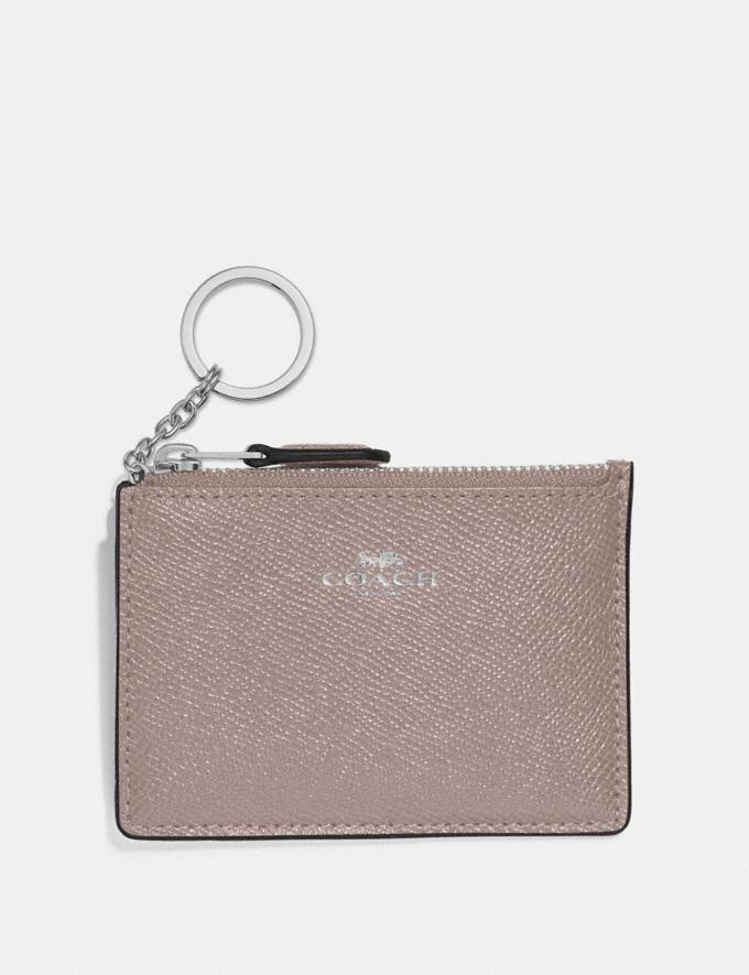 Coach Mini Skinny Id Case Grey Birch/Silver Explore Women Explore Women Bag Charms & Accessories