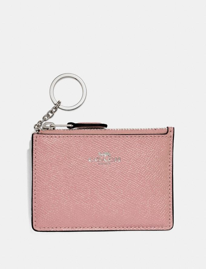 Coach Mini Skinny Id Case Petal/Silver Explore Women Explore Women Bag Charms & Accessories