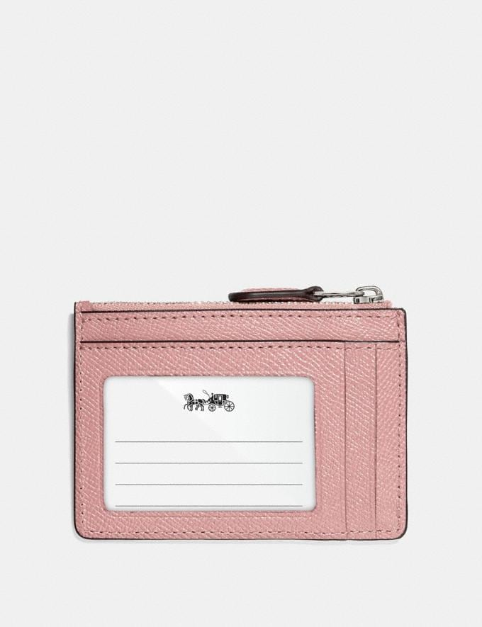 Coach Mini Skinny Id Case Petal/Silver Explore Women Explore Women Bag Charms & Accessories Alternate View 1