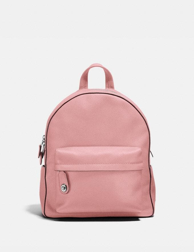 Coach Campus Backpack Peony/Silver