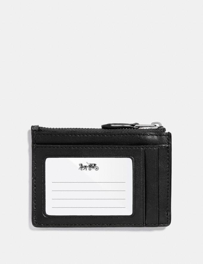 Coach Mini Skinny Id Case in Signature Canvas Black Smoke/Black/Silver Explore Women Explore Women Bag Charms & Accessories Alternate View 1