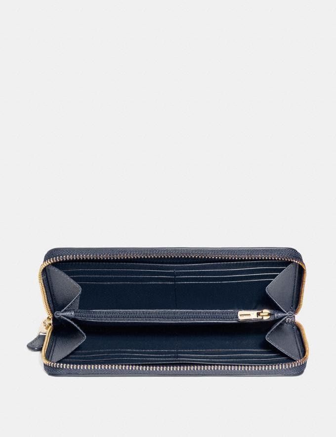 Coach Accordion Zip Wallet Midnight/Light Gold Explore Women Explore Women Wallets Alternate View 1