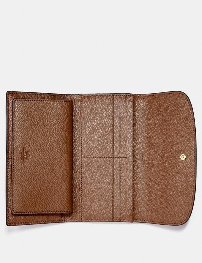 Coach Checkbook Wallet Saddle 2/Light Gold Back In Stock Back In Stock Wallets & Accessories Alternate View 1