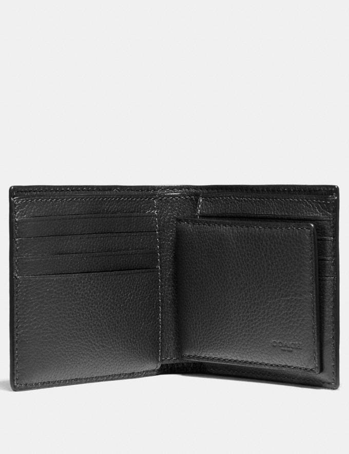 Coach 3-In-1 Wallet With Baseball Stitch Black  Alternate View 1