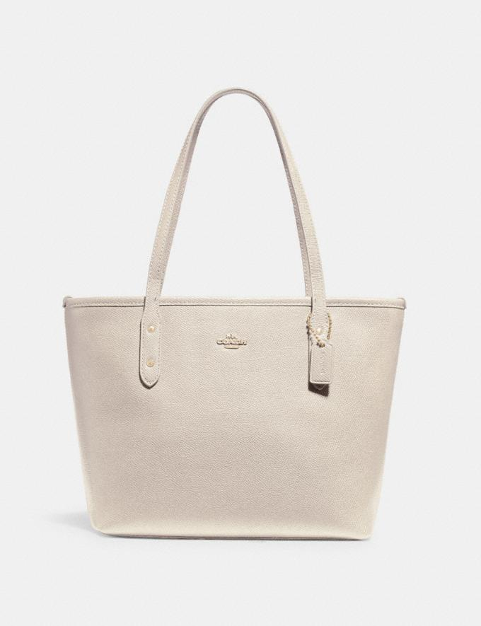 Coach Mini City Zip Tote Im/Chalk Clearance