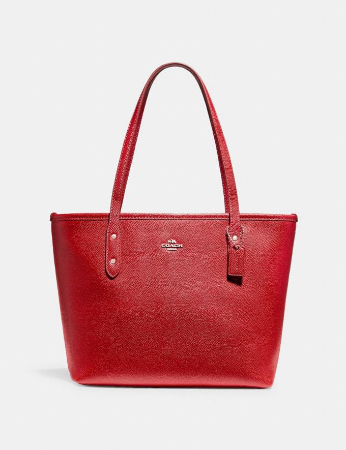 Coach Mini City Zip Tote Sv/True Red Bags Bags Totes