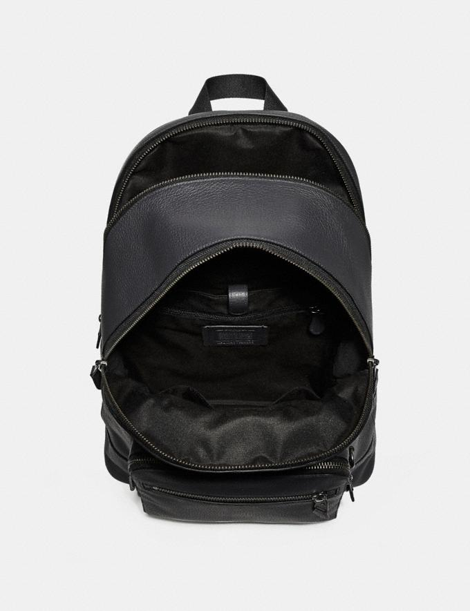 Coach West Backpack Midnight Navy/Black Antique Nickel Explore Bags Bags Backpacks Alternate View 1