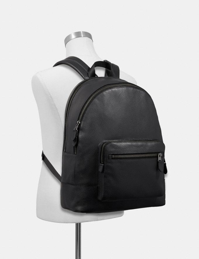 Coach West Backpack Midnight Navy/Black Antique Nickel Explore Bags Bags Backpacks Alternate View 2