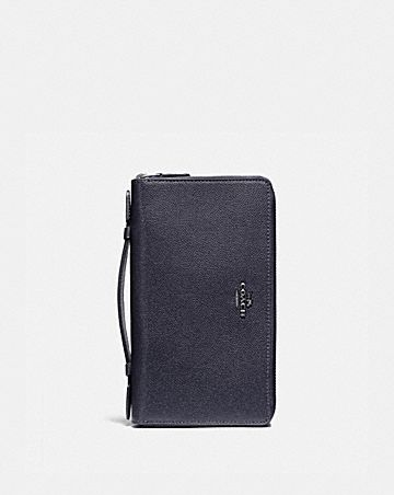 double zip travel wallet