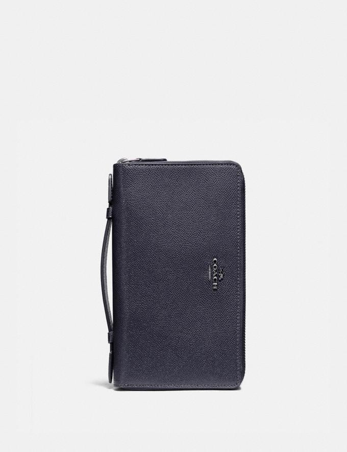 Coach Double Zip Travel Wallet Rouge/Gold Accessories Wallets