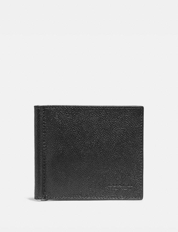 Coach Money Clip Billfold Black