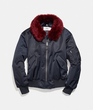MA-1 JACKET WITH SHEARLING COLLAR