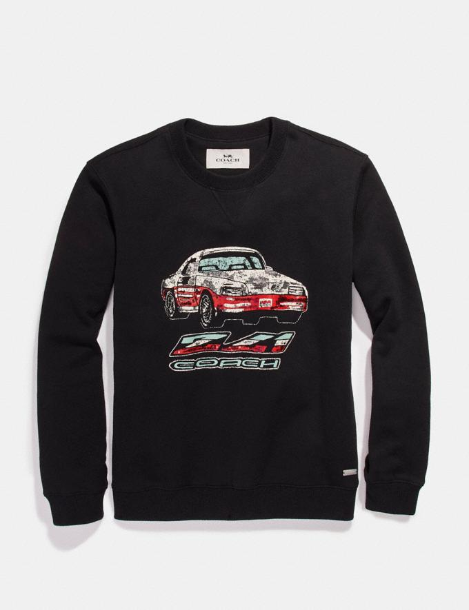 Coach Car Sweatshirt Black
