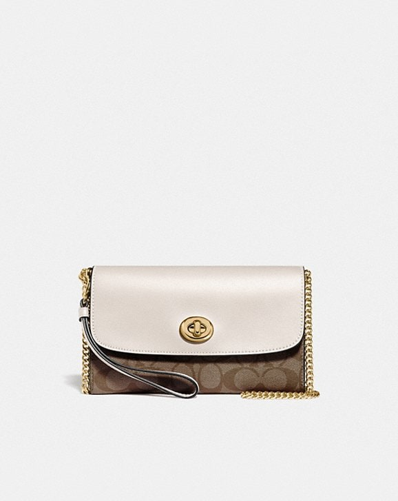 Coach CHAIN CROSSBODY IN SIGNATURE CANVAS