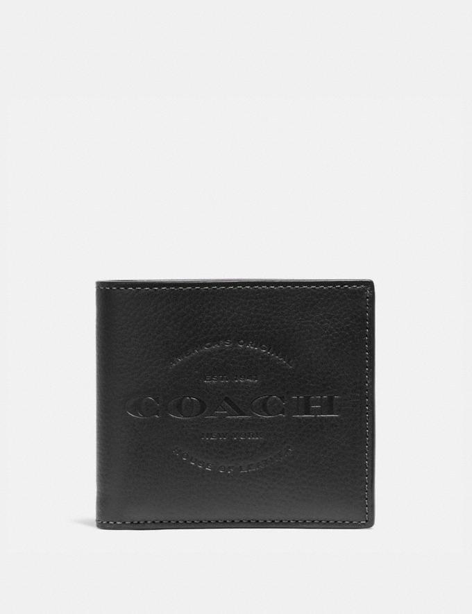 Coach Double Billfold Wallet Black