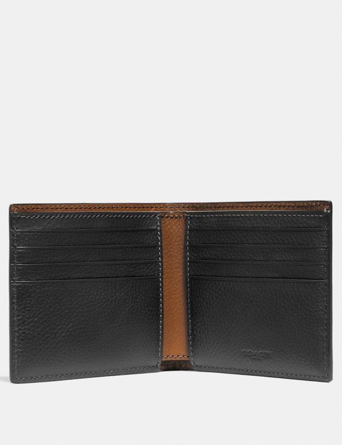 Coach Double Billfold Wallet Black  Alternate View 1