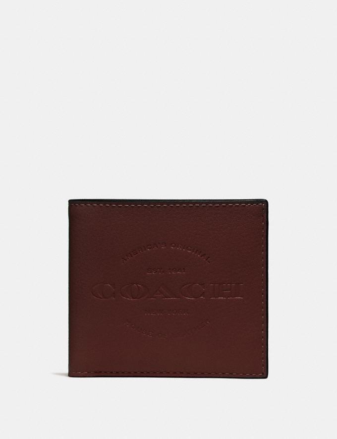 Coach Double Billfold Wallet Heather Grey/Black Antique Nickel
