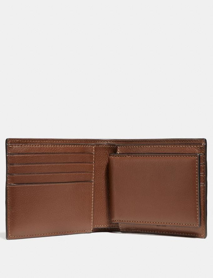Coach 3-In-1 Wallet With Varsity Stripe Saddle/Midnight Nvy/Chalk Explore Men Explore Men Wallets Alternate View 1