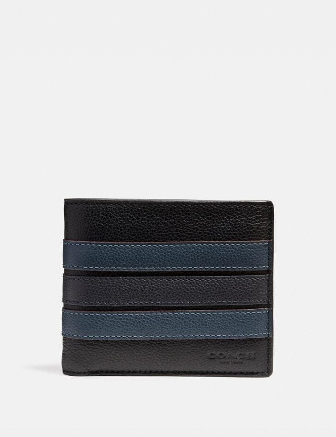 Coach 3-In-1 Wallet With Varsity Stripe Black/Denim/Midnight Nvy Explore Men Explore Men Wallets