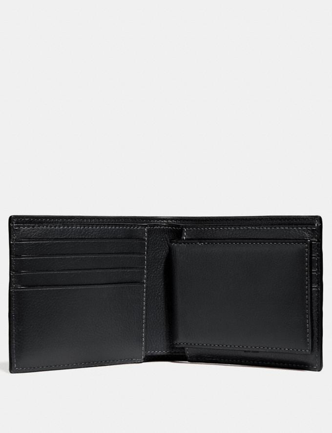 Coach 3-In-1 Wallet With Varsity Stripe Black/Denim/Midnight Nvy Explore Men Explore Men Wallets Alternate View 1