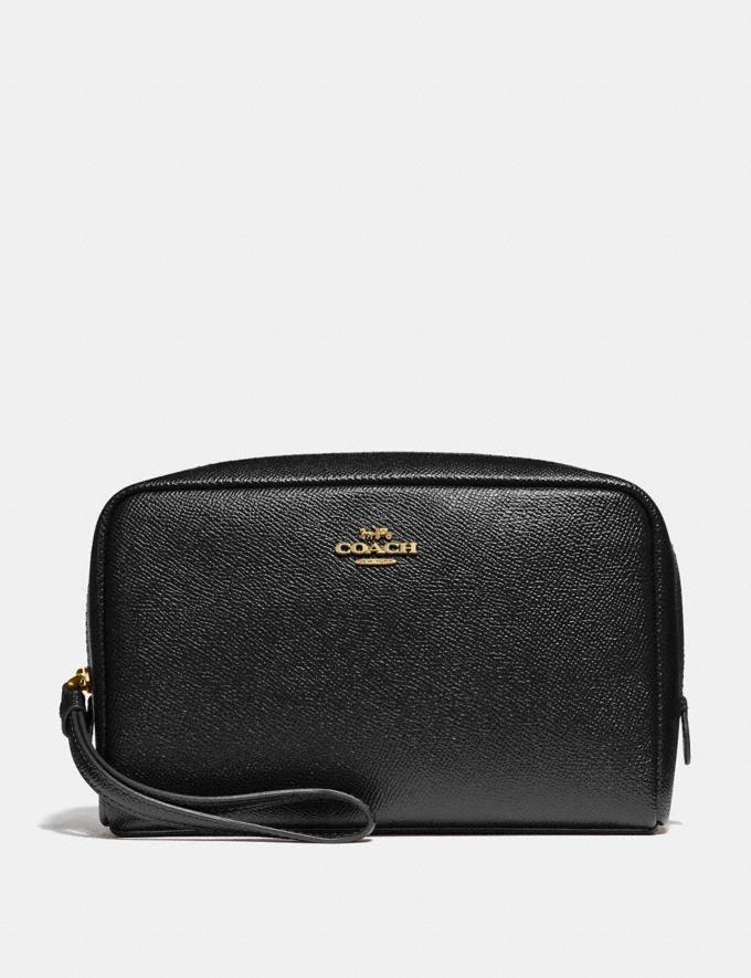 Coach Boxy Cosmetic Case Black/Imitation Gold