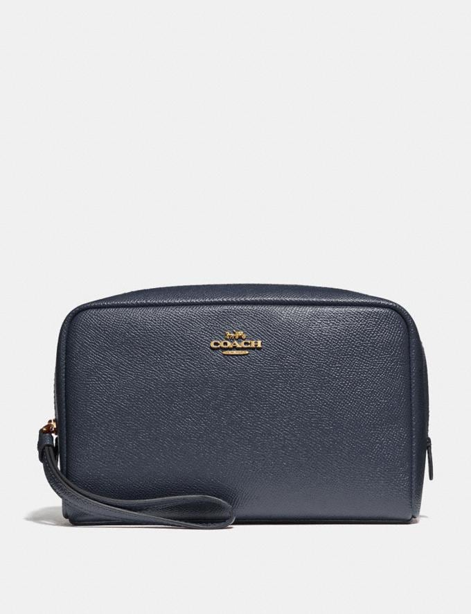 Coach Boxy Cosmetic Case Midnight/Light Gold Explore Women Explore Women Bag Charms & Accessories