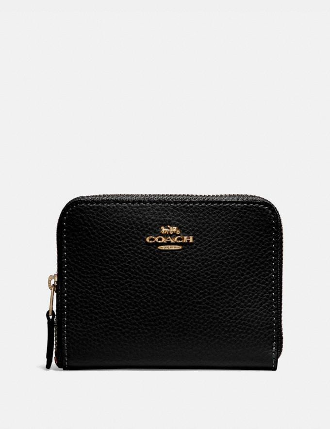 Coach Small Zip Around Wallet Black/Light Gold DEFAULT_CATEGORY