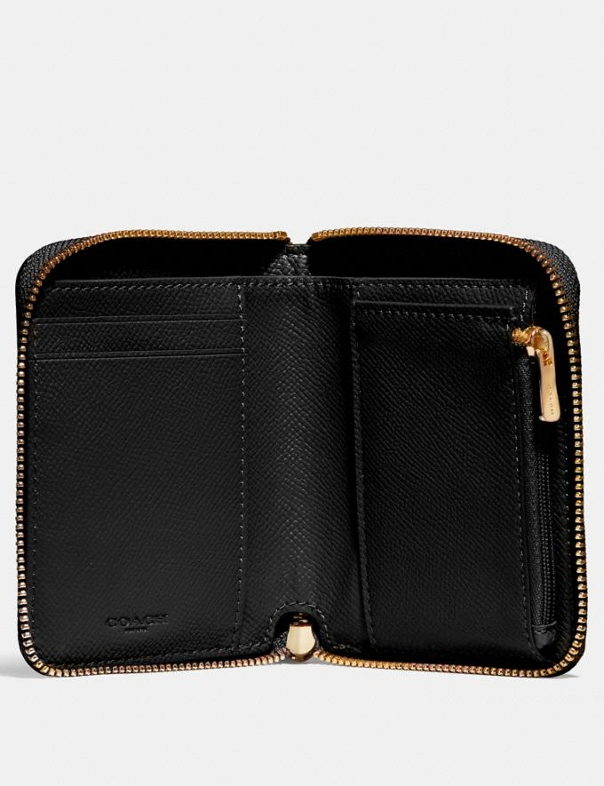 Coach Small Zip Around Wallet Black/Light Gold DEFAULT_CATEGORY Alternate View 1