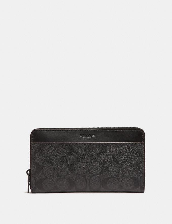 Coach Travel Wallet in Signature Canvas Black/Black/Oxblood Explore Men Explore Men Travel