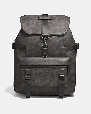 bleecker utility backpack with wild beast print